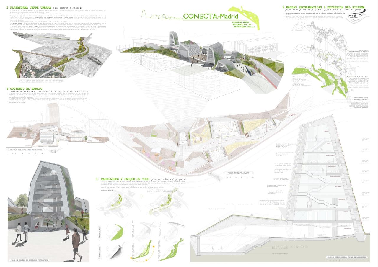 Conector verde regenerativo en Arganzuela / Sara Carbajo Giménez