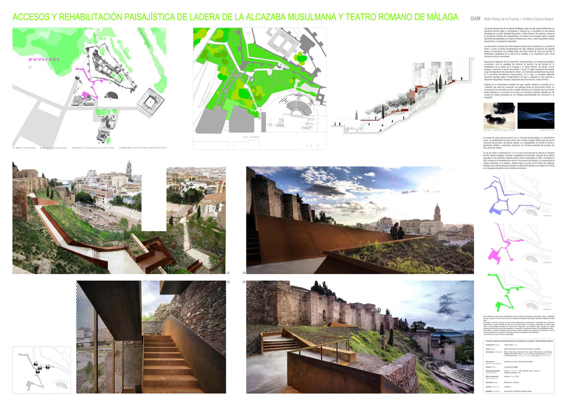 OAM Oficina Arquitectura Málaga /<br>Ladera de la Alcazaba y Teatro Romano de Málaga